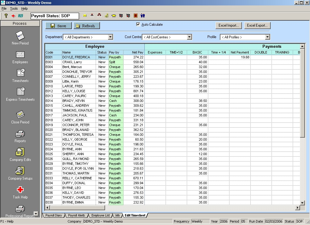 Employee-timesheets